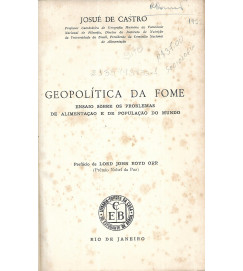 Geopolítica da Fome - Josué de Castro