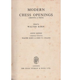 Modern Chess Openings ( Griffith & White )