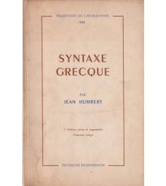 Syntaxe Grecque Volume VIII