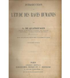 Introduction a letude des races humaines - A de Quatrefages
