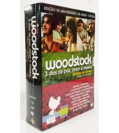 BOX DVD - Woodstock: 3 dias de paz, amor e música