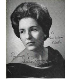 Heather Harper - Autografada e com dedicatória - 1968