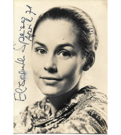 Elisabeth Speiser - Autografada - Abril  1971