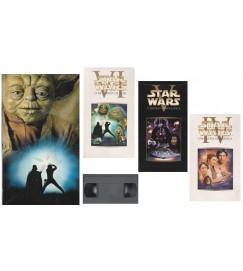 Star Wars - box com 3 VHS : Uma Nova Esperança, O Império Contra-Ataca e o Retorno do Rei